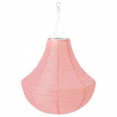 СОЛВИДЕН Подвесная светодиодная лампа, для сада, розовый, 46 см