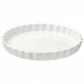 ВАРДАГЕН Форма для открытого пирога, белый с оттенком, 32 см