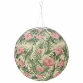 СОЛВИДЕН Подвесная светодиодная лампа, для сада, шаровидный цветок, 45 см